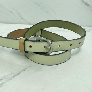 Ann Taylor Loft Color Block Skinny Leather Belt